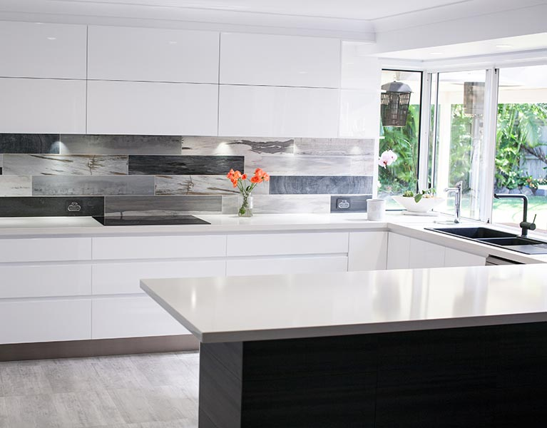 cabinetry solutions splashback feature