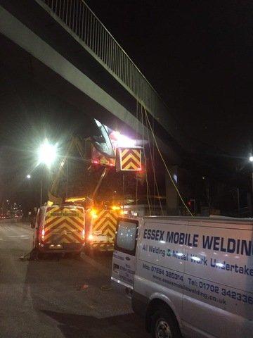 welding at night
