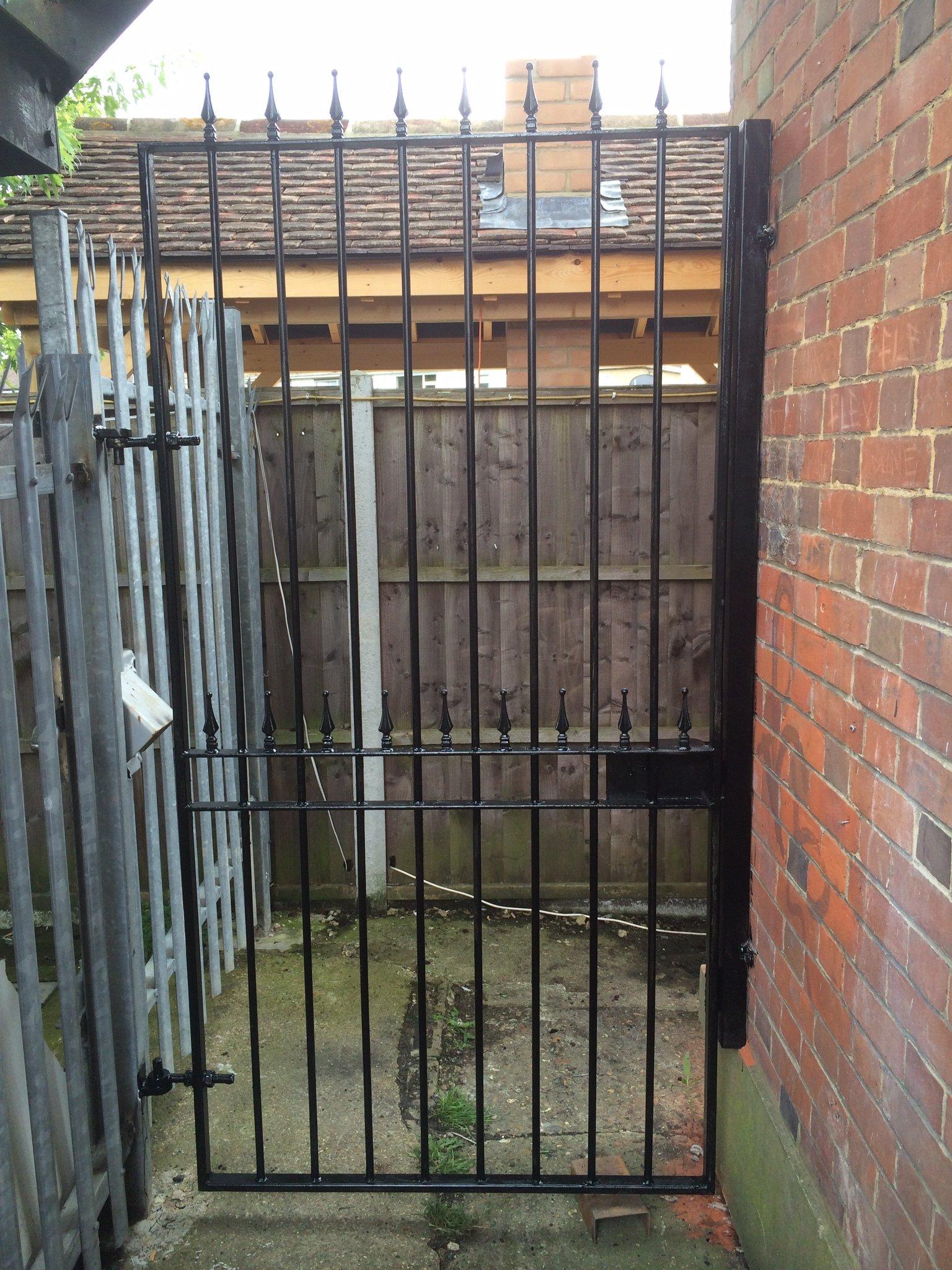 railed gate