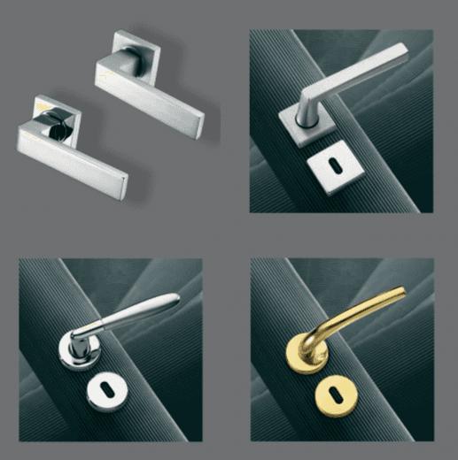 4 diverse tipoligie di maniglie per una porta