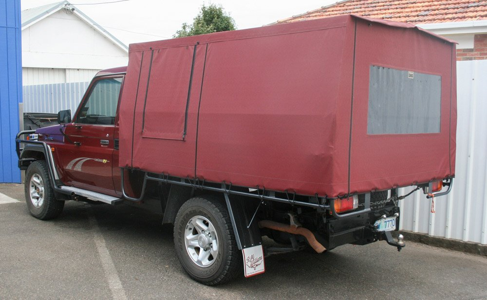 red ute rear canopy