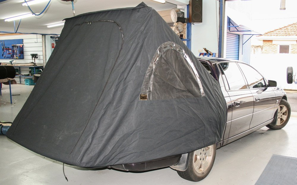 rear annex with gray cover