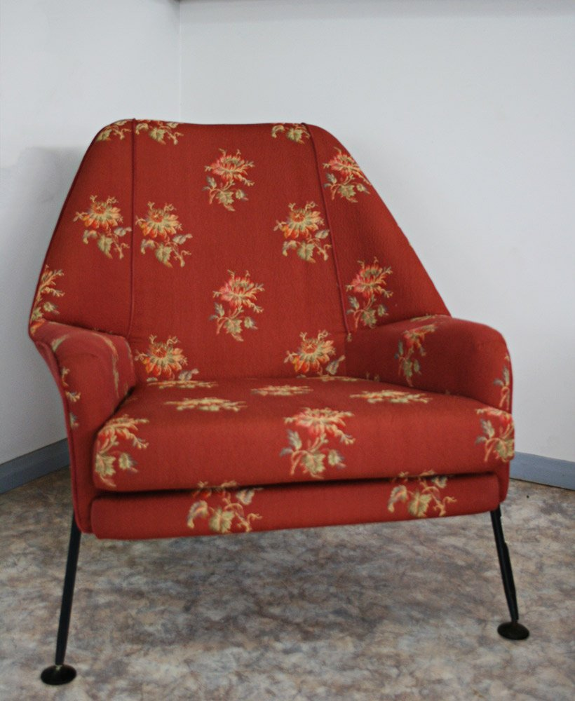 red art deco chair