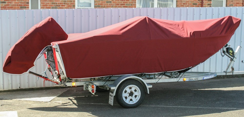 boat with red cloth cover