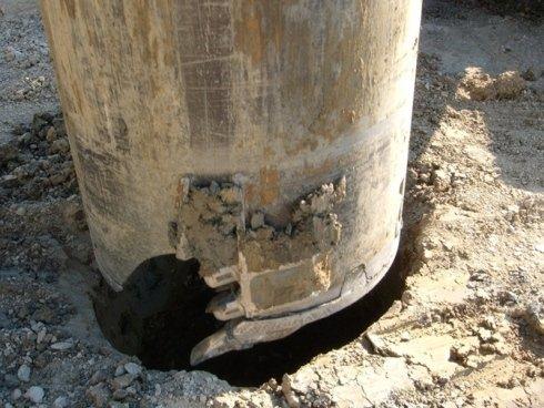 bucket per terreni argillosi