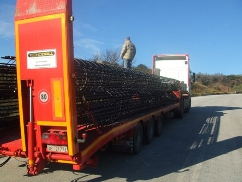 fornitura e trasporto armature per pali