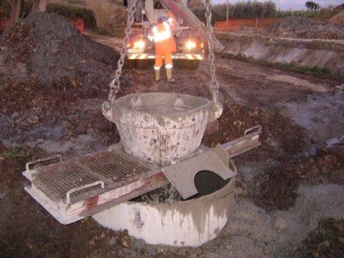 tubo getto per la posa di calcestruzzo dentro il palo