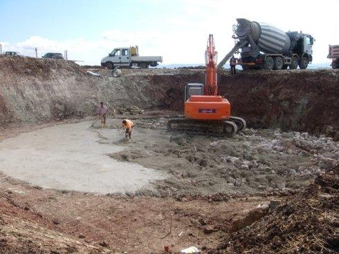 base per fondazione pale eoliche