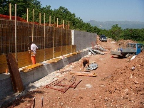 realizzazione muro su pali