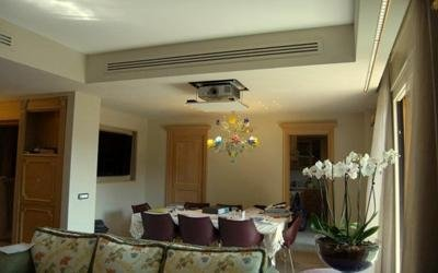 video-proiettore a soffitto