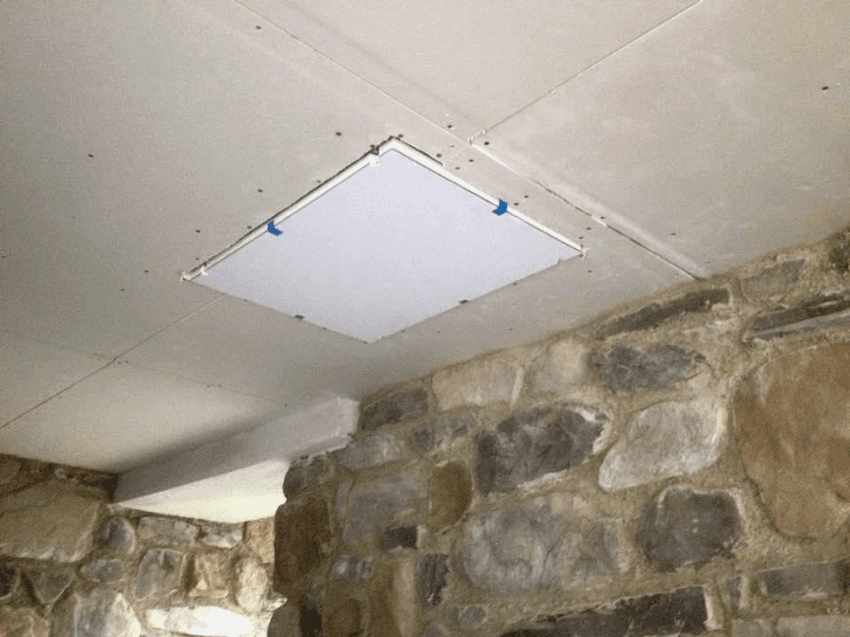 pannello audio al soffitto