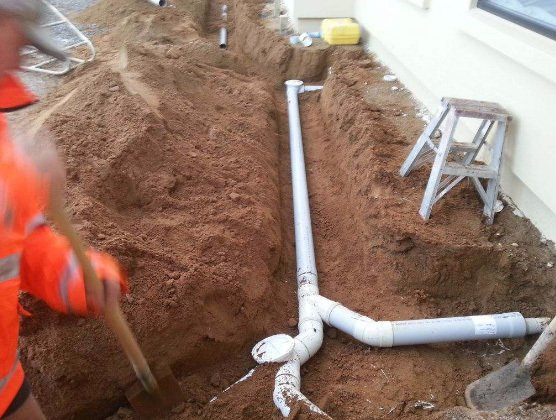 View of the drainage system installed by expert