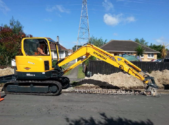 Machines being used for earthworks