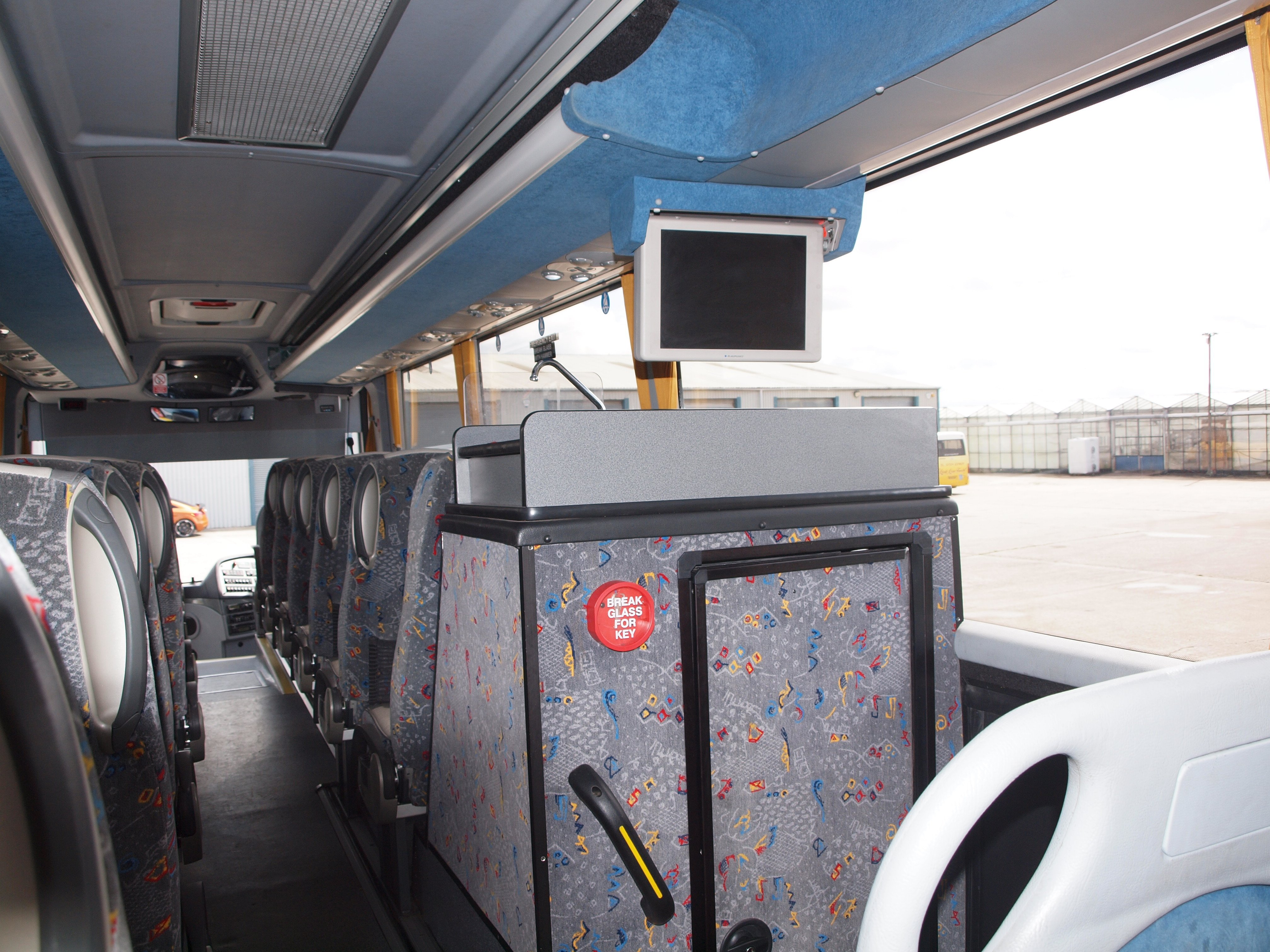 inside of the coach