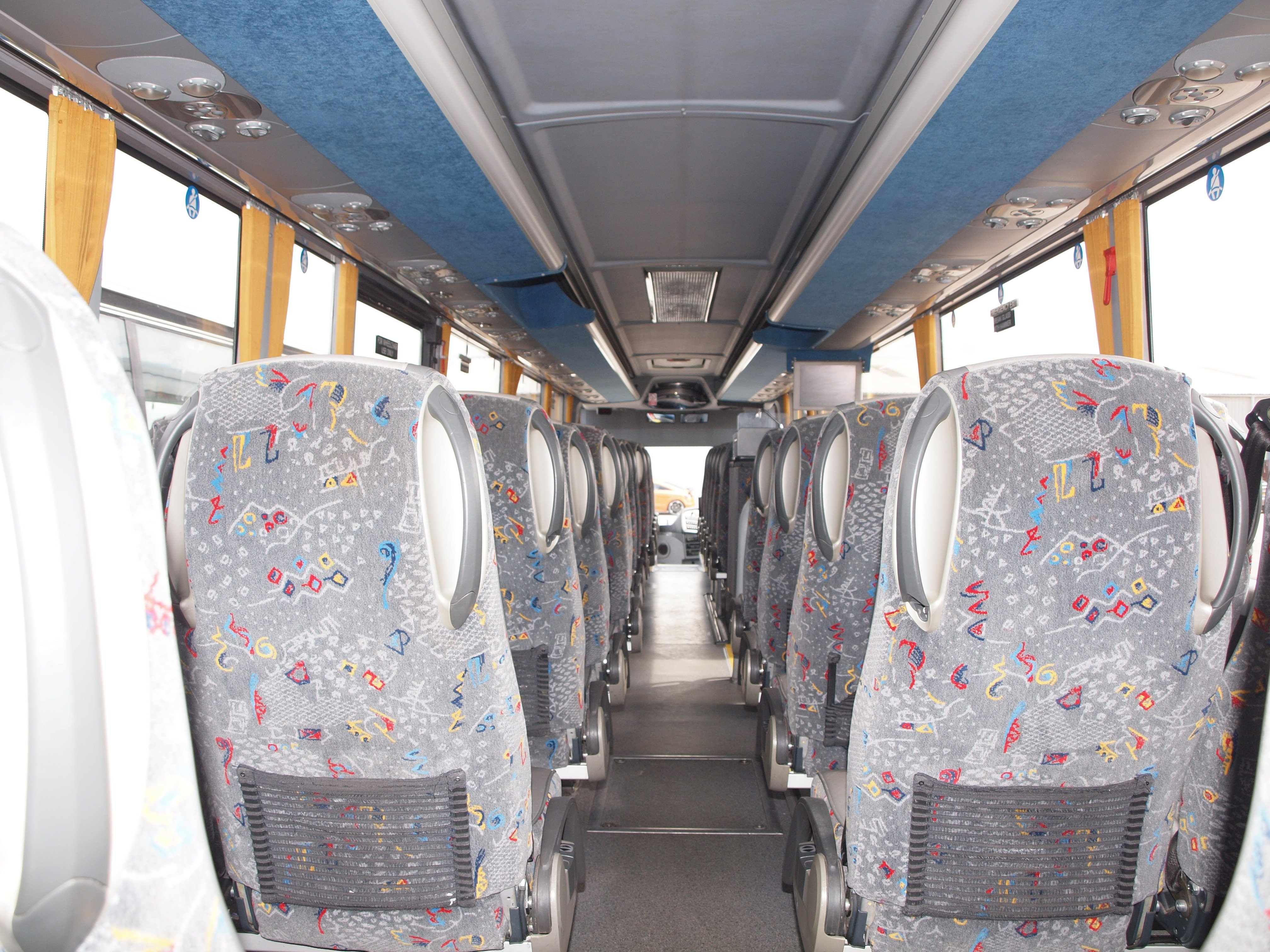 Interior of coach for hire