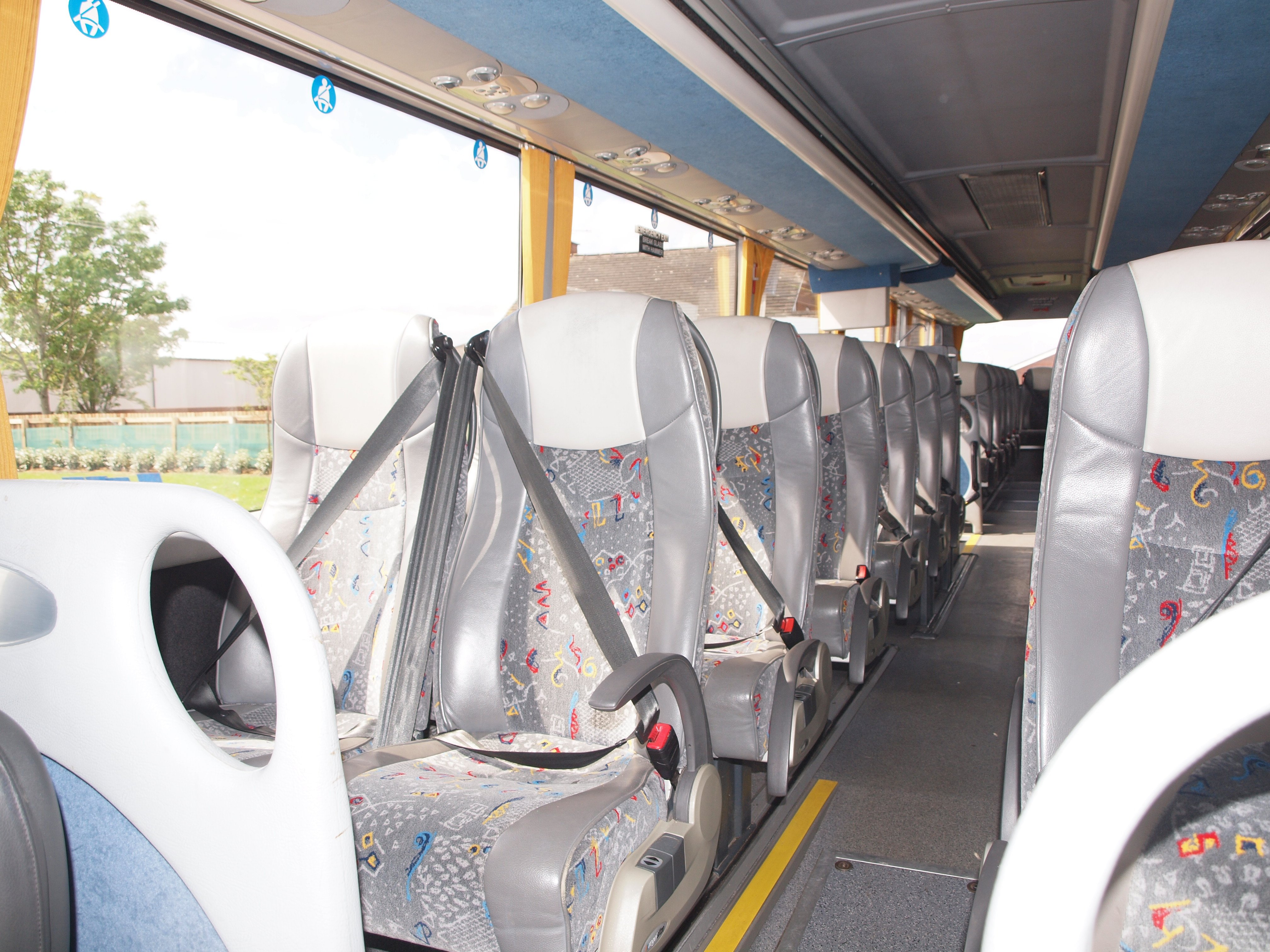 front view of the inside of the coach