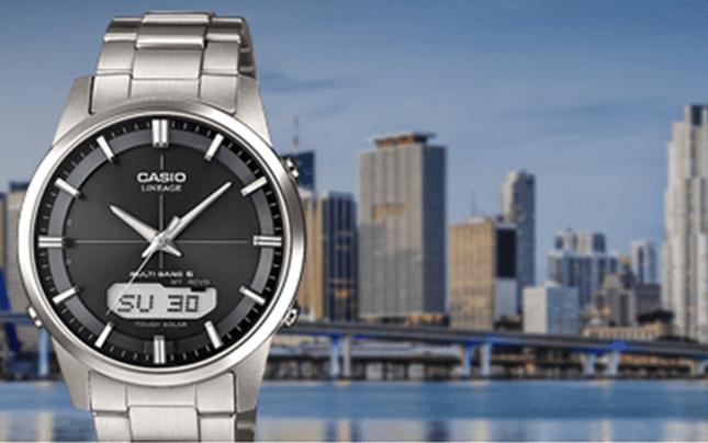 orologio con radio controllo, wave ceptor, Casio, Rieti