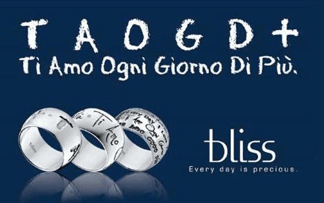 gioielli TAODG+, gioielli, Ti amo ogni Giorno di più, anelli, bracciali, gioielli, gioielli moda, Bliss, Bliss gioielli, Rieti