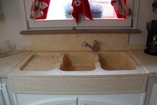 cucina marmo anticato