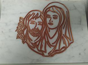 immagine di gesu e della madonna