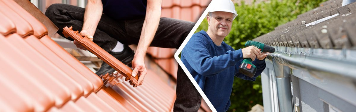 weatherite pty ltd workers repairing gutter and roof cleaning