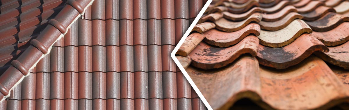 weatherite pty ltd roof tile before restoration and after restoration