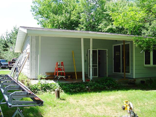 Garage Door Patio Enclosures : Porch enclosures before after photo gallery sunspace
