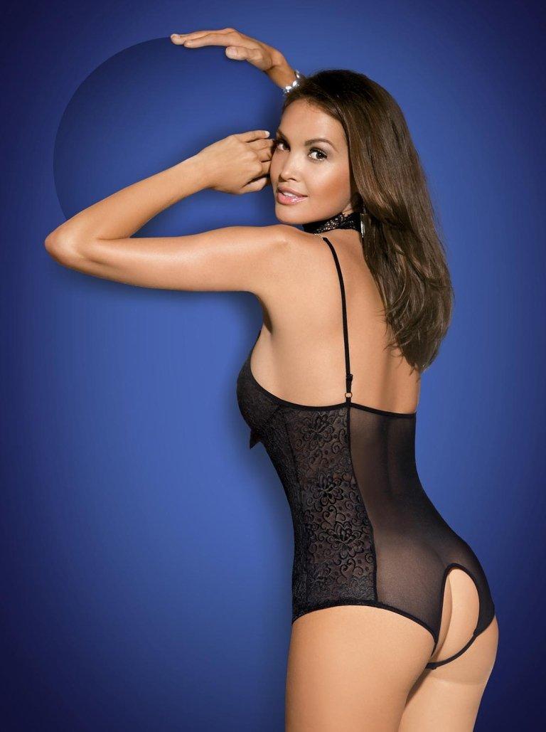 lingerie nera aperta dietro