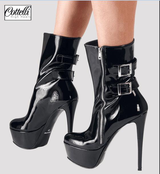 scarpe con fibbia da donna