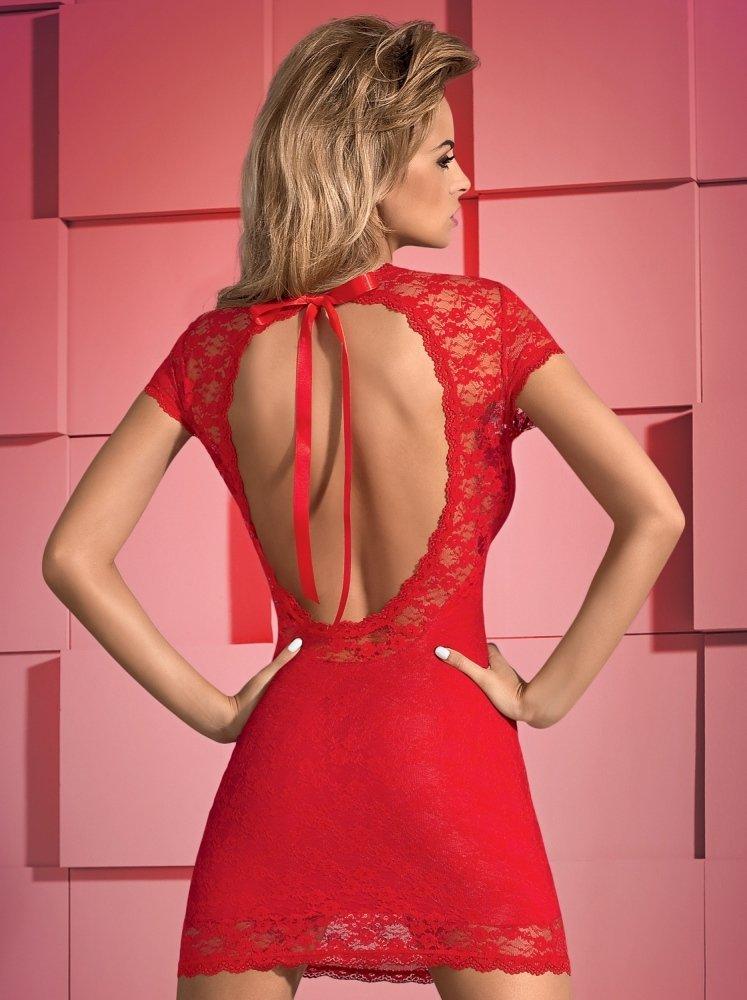 abito sensuale rosso con apertura sulla schiena