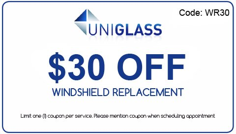 Windshield Replacement Coupon