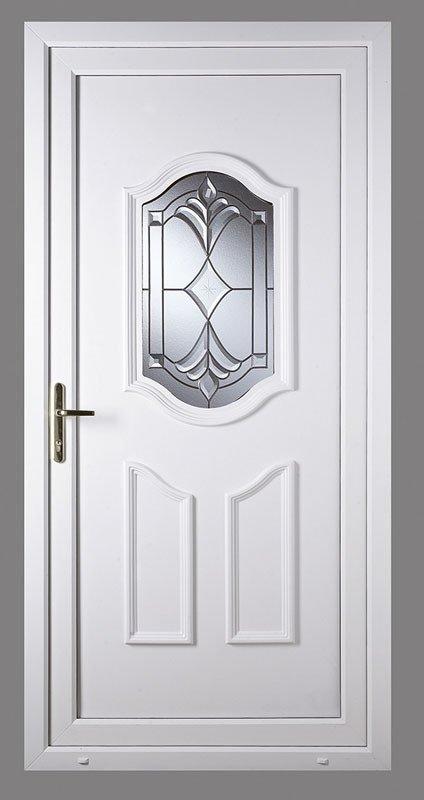 View of White color upvc doors