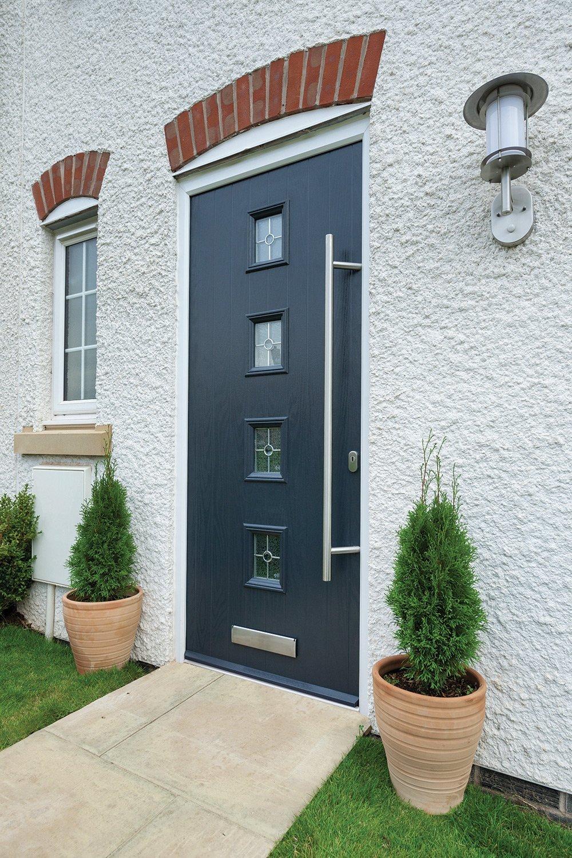 View of composite door installed in Yorkshire