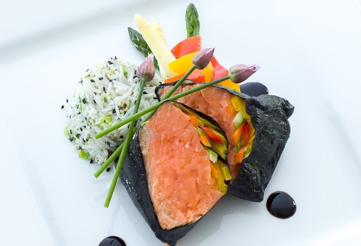 Salmon sushi roll - Event Catering from Executive Cuisine
