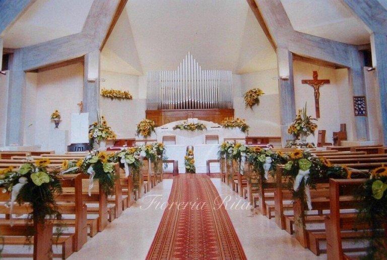 allestimento chiesa Parè