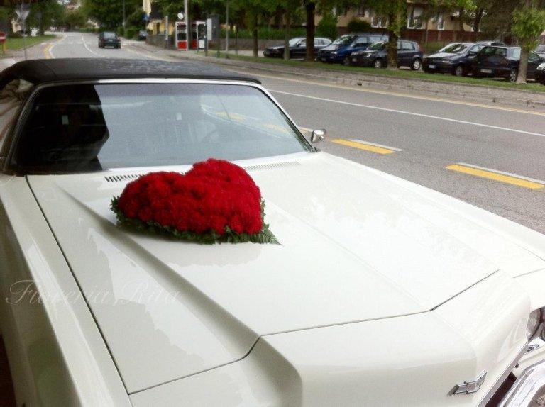 addobbo macchina matrimonio