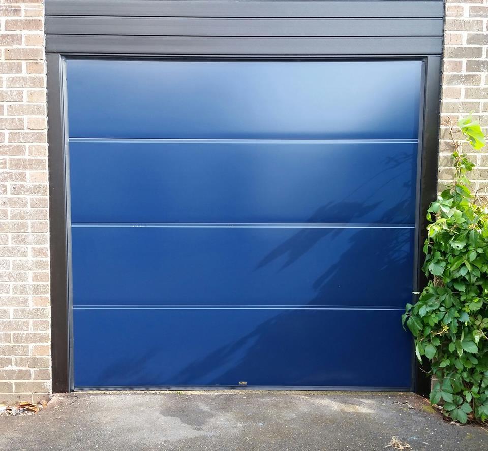 Up & Over Doors Blue