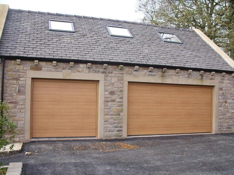 Roller garage door tan