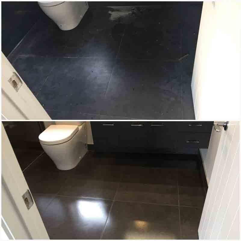 Bathroom floor cleaning