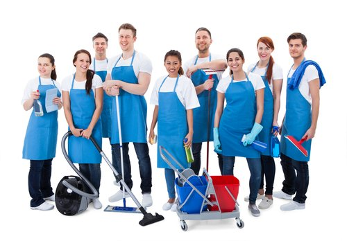 Team of cleaning experts
