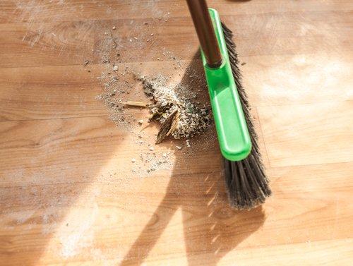 Wooden floor cleaning
