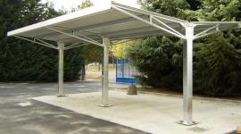 tettoie in ferro per auto, costruzione strutture metalliche, coperture metalliche