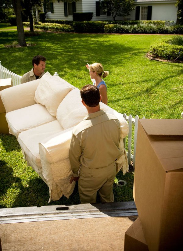 Home move - Coventry - W Grace Removals - Carrying sofa