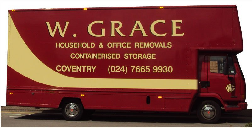 Home move - Coventry - W Grace Removals - truck
