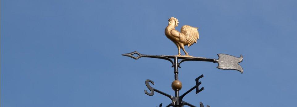 banderuola segnavento a forma di gallo
