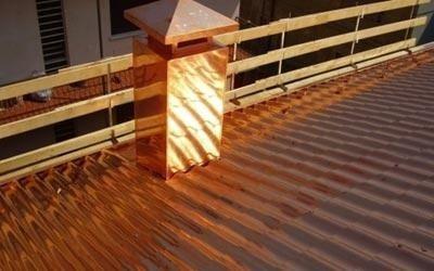 tetto con lattonerie