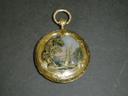Restauro orologio antico con cassa in oro e smalto, Firenze