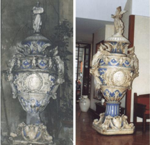 Restauro vaso in ceramica, Firenze