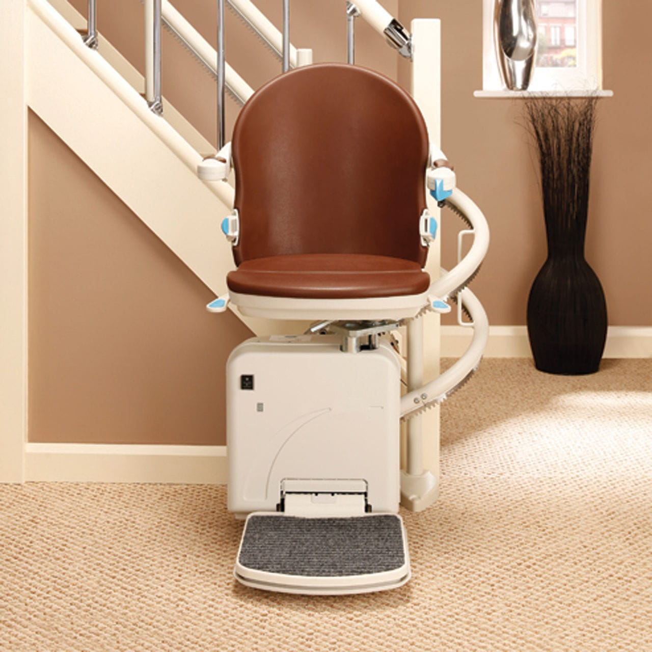 Woman on a stairlift