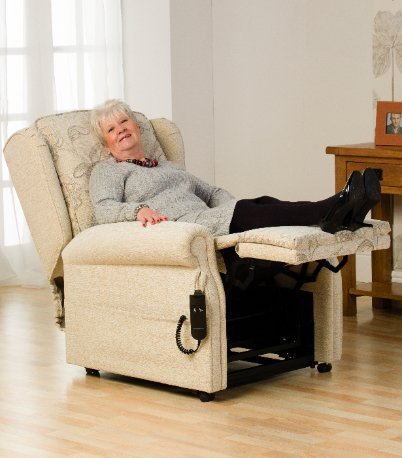 lady relaxing on a recliner